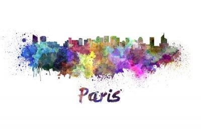 Sticker Paris, V2, Horizon, aquarelle