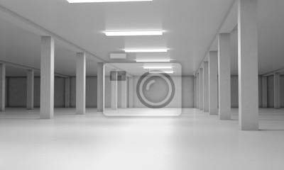Sticker Parking souterrain. 3d rendre l'image. 3d