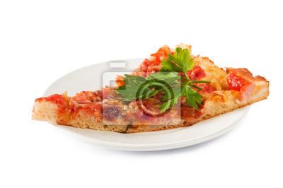 Partie de la pizza à la saucisse