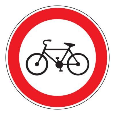 Sticker Pas de bicyclette permis signe