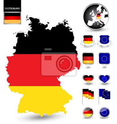 Patriotique ensemble de l'Allemagne de symbole
