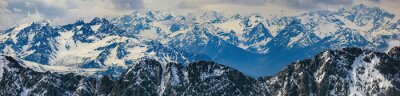 Sticker paysage d'hiver des Alpes panorama de montagne