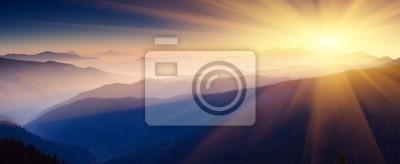 Sticker paysage de montagne