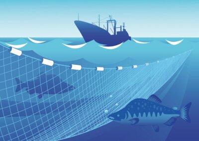 Sticker Pêche dans la mer