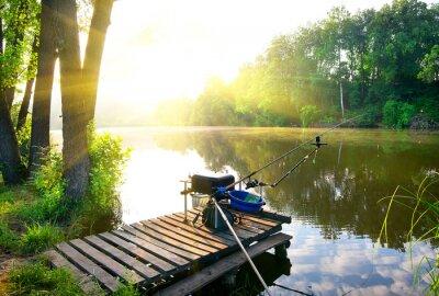 Sticker Pêche sur la rivière
