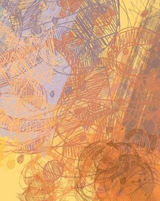 Sticker Peinture abstraite sur toile. Art fait à la main. Texture colorée Oeuvre d'art moderne. Coups de grosse peinture. Coups de pinceau. Art contemporain. Image d'arrière-plan artistique