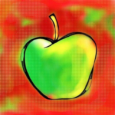 Sticker Peinture d'Apple