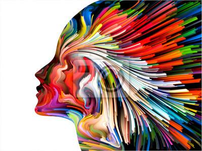 Sticker Peinture de l'esprit Contexte