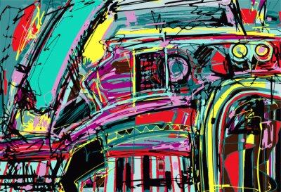 Sticker peinture numérique originale de la composition de l'abstraction