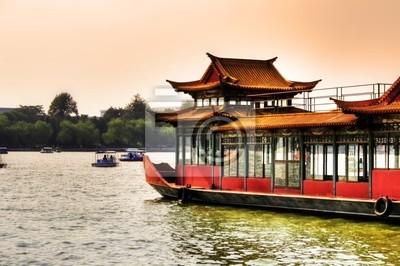 Pékin - Bateau dans le parc Beihai