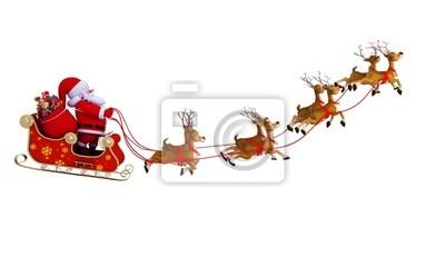 Père Noël avec traîneau
