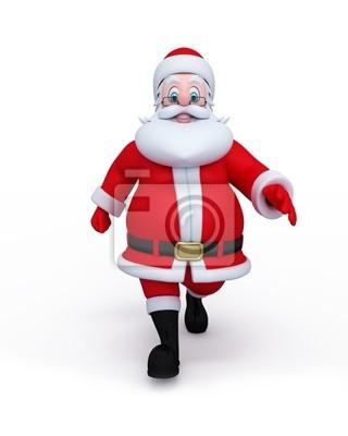 Père Noël de marcher sur la surface vierge