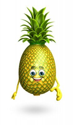 Sticker Personnage de dessin animé d'ananas