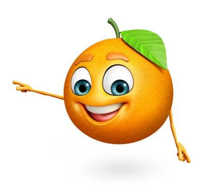 Sticker Personnage de dessin animé d'orange