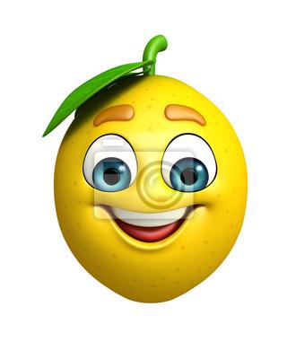 Personnage de dessin animé de citron