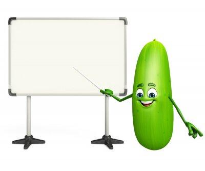 Personnage de dessin animé de concombre