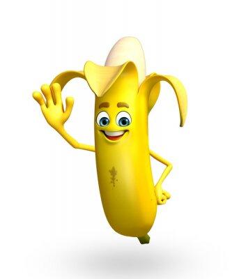Sticker Personnage de dessin animé de la banane