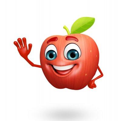 Sticker Personnage de dessin animé des pommes