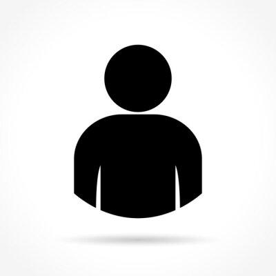 Sticker Personne, icône, blanc, fond