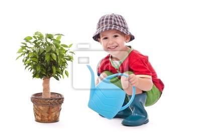 Petit garçon de jardinier