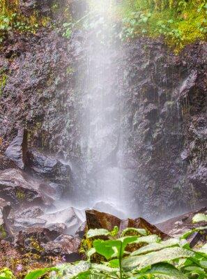Sticker Petite chute d'eau à Anse des Cascades, île de la Réunion