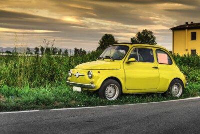 Sticker Petite voiture italienne Fiat Abarth cru