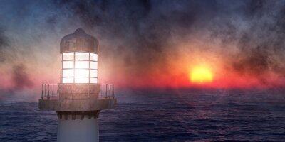Sticker phare sur la côte