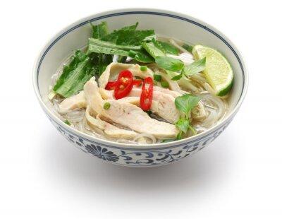 Sticker Pho ga, poulet vietnamien soupe de nouilles de riz