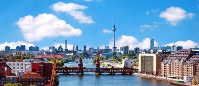 Sticker photo aérienne horizon berlin