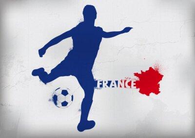Sticker Pied France Graffiti