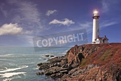 Sticker pigeon point lighthouse - pacific coast / california