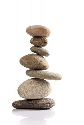 Sticker Pile équilibrée des différentes pierres de rivière