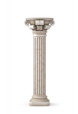 Sticker Pilier grec classique. 3d rendu.