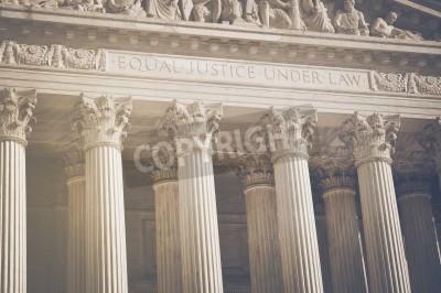 Sticker Piliers États-Unis de la Cour suprême de justice et le droit