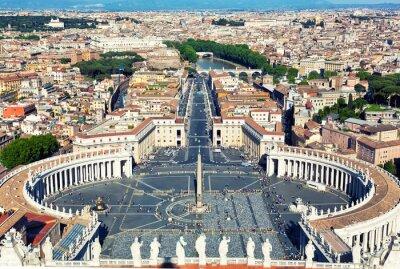 Sticker Place célèbre Saint Pierre au Vatican