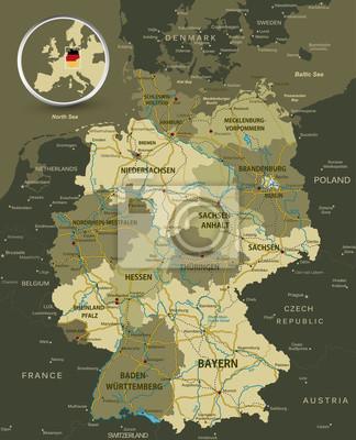 Plan détaillé de l'Allemagne