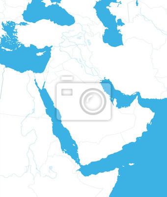 Plan du Moyen-Orient et de l'Asie.