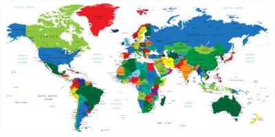 Sticker Plan-les pays du monde