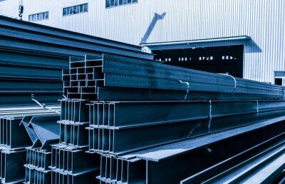 Sticker Plancher d'usine en acier, empilé avec beaucoup d'acier