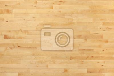 Sticker Plancher de basket-ball de bois franc vu de dessus