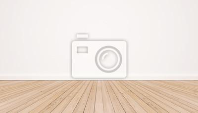 Sticker Plancher en bois de chêne avec mur blanc