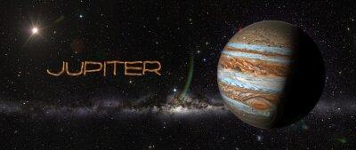 Sticker Planète Jupiter dans l'espace.