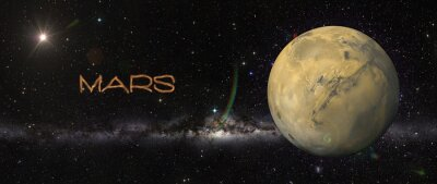 Sticker Planète Mars dans l'espace.