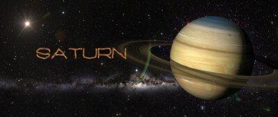 Sticker Planète Saturne dans l'espace.
