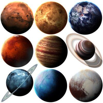 Sticker Planètes isolées du système solaire de haute qualité. Éléments de cette image fournis par la NASA