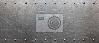 Sticker Plaque en acier avec rivets