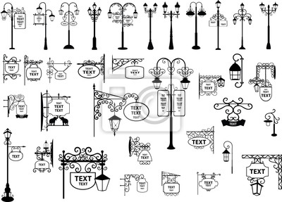 Sticker Plaques de rue et lanternes