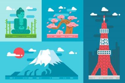 Sticker Plat, conception, Japon, repères, ensemble