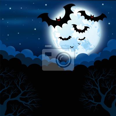Pleine lune dans le Halloween