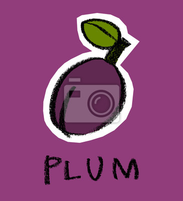 Plum sur fond violet